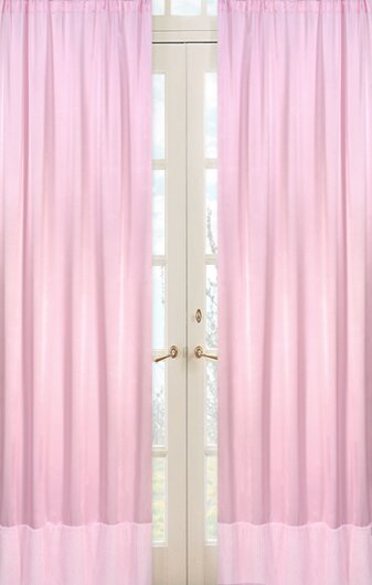 sweet jojo designs solid semi sheer rod pocket curtain. Black Bedroom Furniture Sets. Home Design Ideas