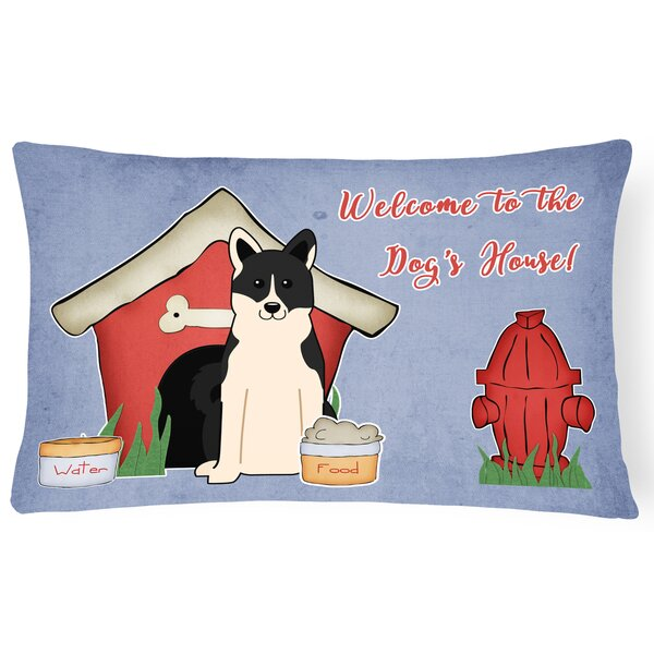 Dog House Handmade Rectangle Indoor/Outdoor Fabric Lumbar Pillow by East Urban Home