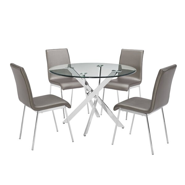 Fernie 5 Piece Dining Set by Orren Ellis