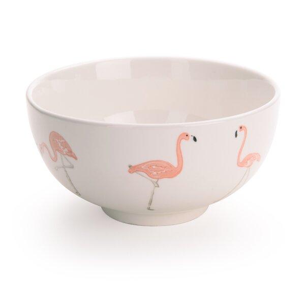 Tassone 28 oz. Flamingo Dessert Bowl (Set of 4) by Brayden Studio
