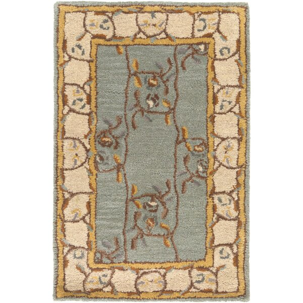 Keefer Gray Floral Area Rug by Charlton Home