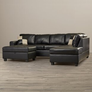 Affordable Corporate Sectional with Ottoman By Andover Mills