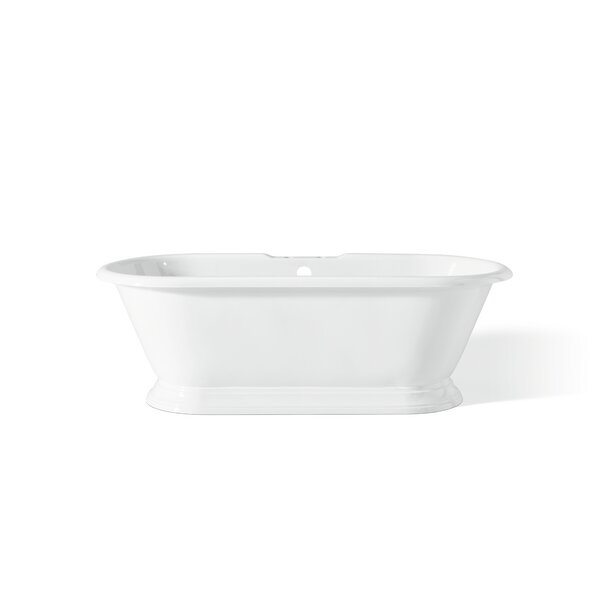 Sandringham 70 x 31 Soaking Bathtub With Pedestal Base And Flat Area For Faucet Holes by Cheviot Products