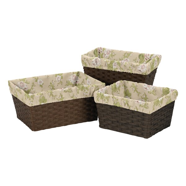 Annabel 3 Piece Basket Liner Set by Sweet Jojo Designs
