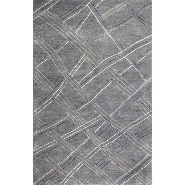 Pearl Street Artsilk Hand-Woven Wool Gray Area Rug by Latitude Run