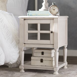 Buy clear Bezons End Table With Storage ByLark Manor