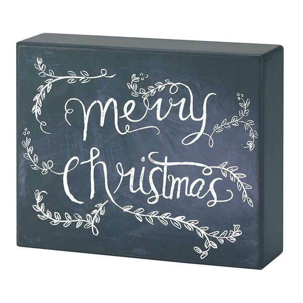 Christmas Textual Art on Plaque by Dicksons Inc