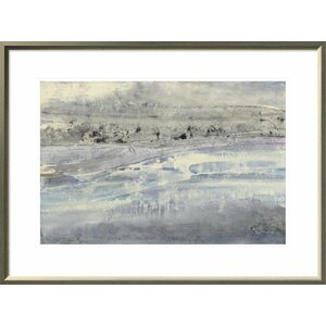 'Silver Horizon' Print by East Urban Home