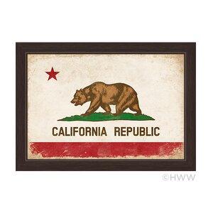 'California Republic Flag' Framed Graphic Art by Loon Peak