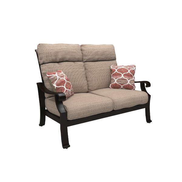 Hamer Loveseat with Cushions by Alcott Hill
