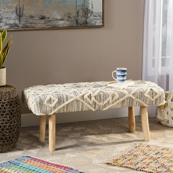 Lena Upholstered Bench by Bungalow Rose Bungalow Rose