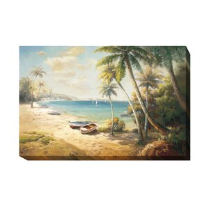 'Paradise Bay' Painting Print on Wrapped Canvas by Artistic Home Gallery
