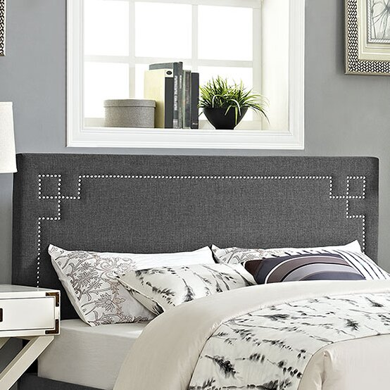 Kerley Upholstered Panel Headboard by Everly Quinn