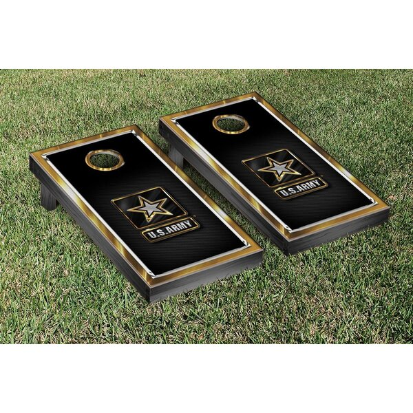 NCAA US Army Gold Chrome Version Cornhole Game Set by Victory Tailgate