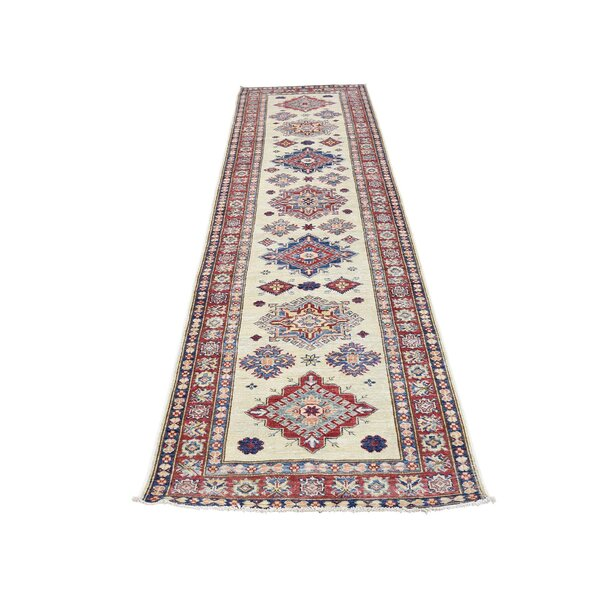 One-of-a-Kind Espada Super Tribal Oriental Hand-Knotted Ivory Area Rug by Millwood Pines