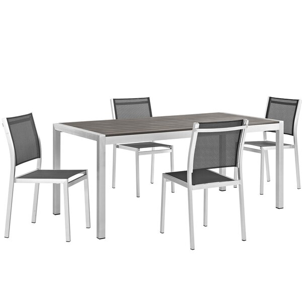 Coline Outdoor Patio Aluminum 5 Piece Dining Set by Orren Ellis