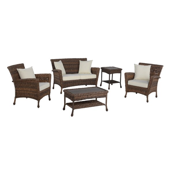 Whittingham Outdoor Garden 5 Piece Sofa Seating Group with Cushions by Highland Dunes