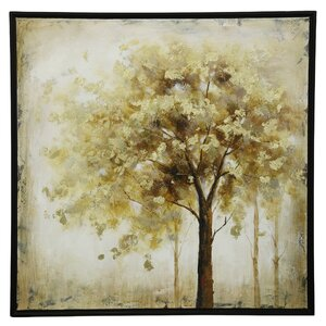 Warm Tree in The Fall Framed Painting on Canvas by Loon Peak
