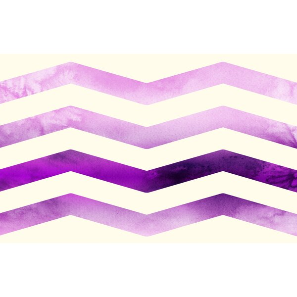 Ombre Chevron Purple/White Area Rug by Manual Woodworkers & Weavers