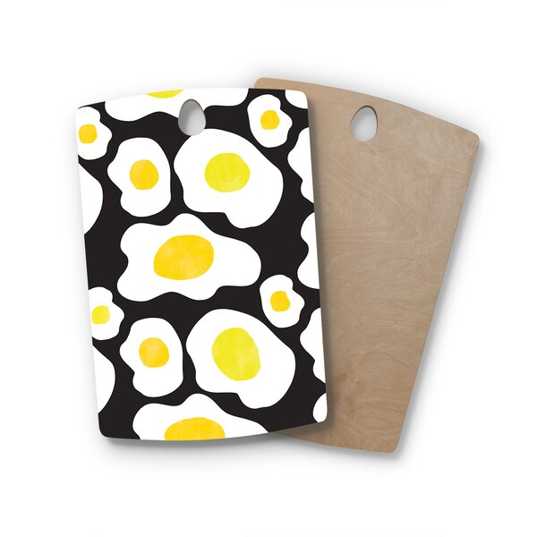 Vasare Nar Birchwood Fried Eggs Pattern Pop Art Cutting Board by East Urban Home