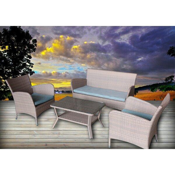 Honeycutt 4 Piece Sofa Set with Cushions by Brayden Studio