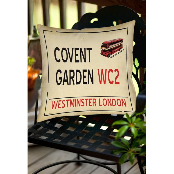 Covent Garden Indoor/Outdoor Throw Pillow by Manual Woodworkers & Weavers