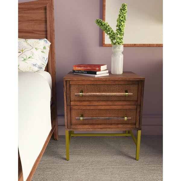 Sophia 2 Drawer Nightstand By Hopper Studio by Hopper Studio New Design