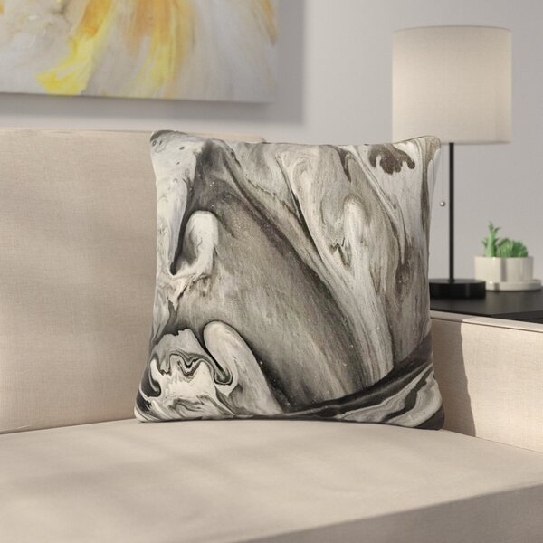 Abstract Anarchy Design Inner Chaos Abstract Outdoor Throw Pillow by East Urban Home