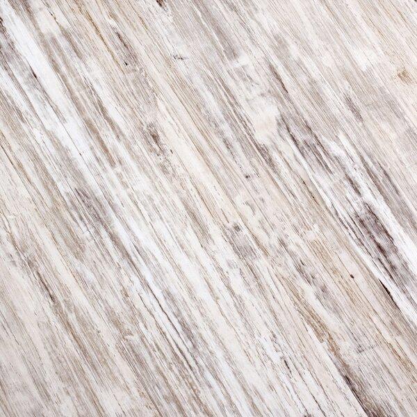 7 x 51 x 9mm Laminate Flooring in White/Gray by ELESGO Floor USA