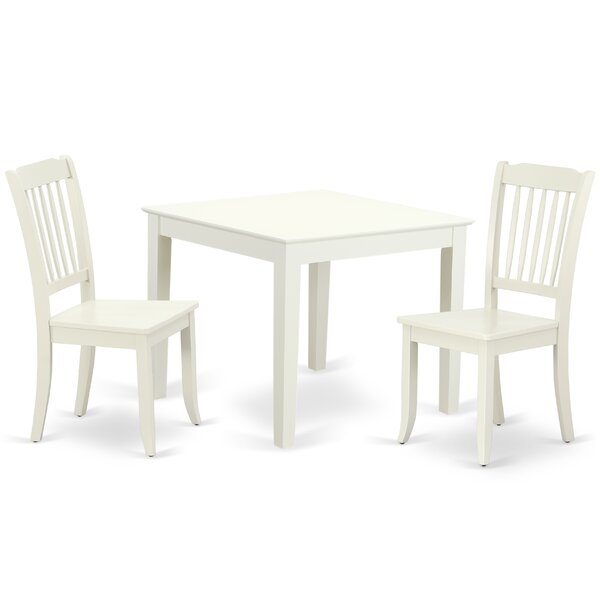 Lalonde 3 Piece Solid Wood Dining Set by August Grove