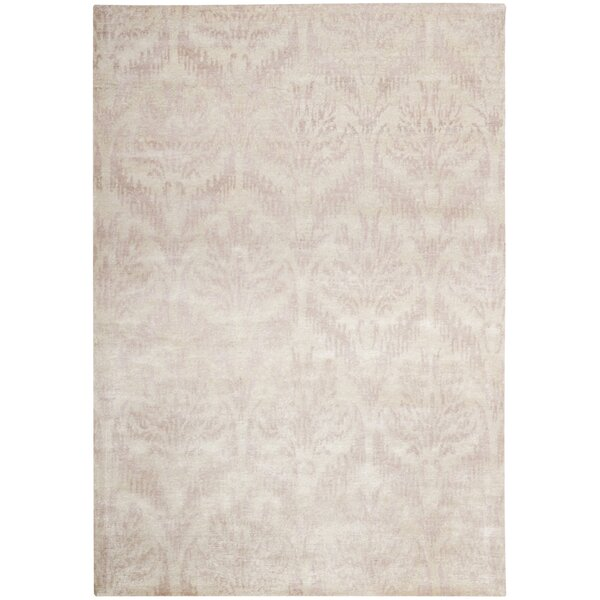 Prades Tibetan Hand Knotted Blush/Cream Area Rug by One Allium Way