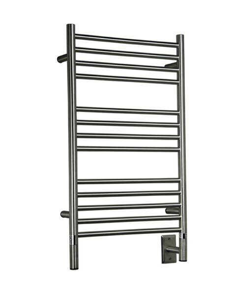 Jeeves Wall Mount Electric C Straight Towel Warmer by Amba