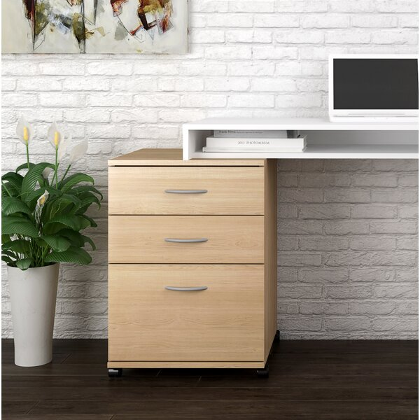 Jodi 3 Drawer Mobile Filing Cabinet by Symple Stuff