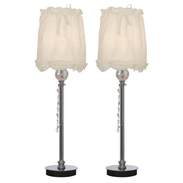 Drapery Buffet 24 Table Lamp (Set of 2) by Sintechno