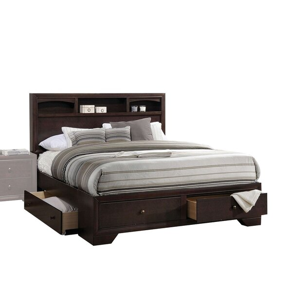 Roseboro Espresso Eastern King Bed With Storage by Alcott Hill