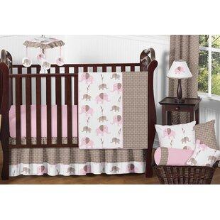 Affordable Mod Elephant 11 Piece Crib Bedding Set BySweet Jojo Designs