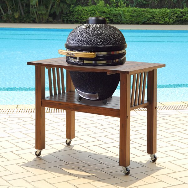 16.5 Kamado Charcoal Grill with Table by Duluth Forge