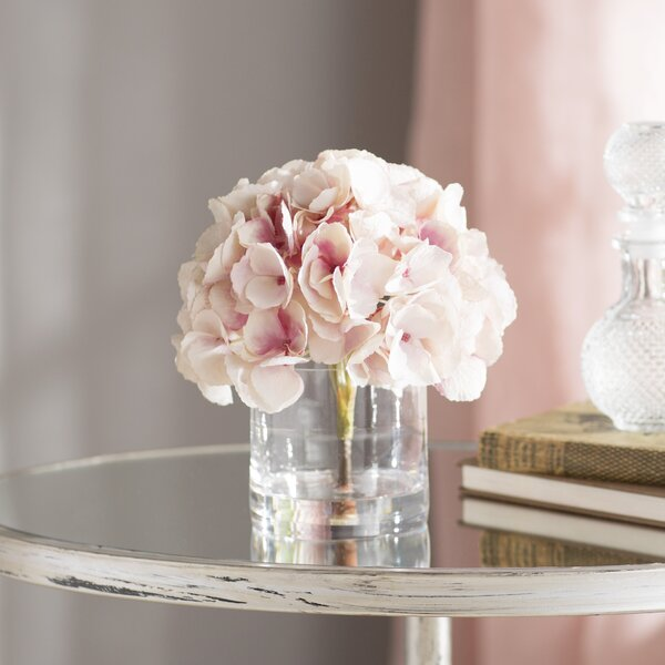 Hydrangea Bouquet in Water Floral Arrangement by Ophelia & Co.