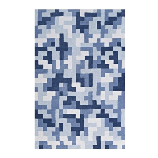Boyles Geometric Light/Dark Blue Area Rug