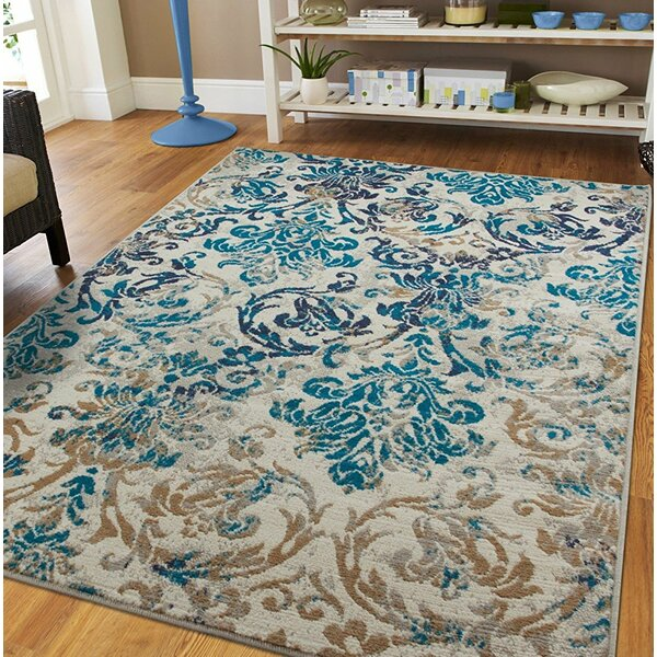 Kincheloe Gray/Blue Indoor/Outdoor Area Rug by Winston Porter