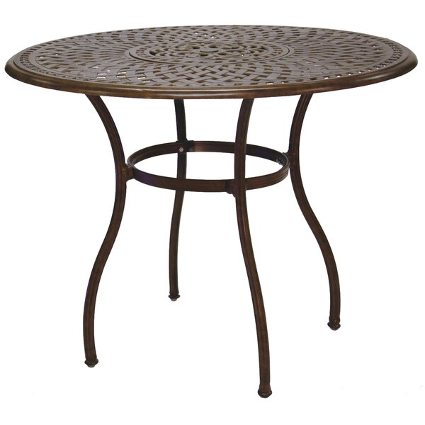 Goncalvo Aluminum Bar Table by Fleur De Lis Living