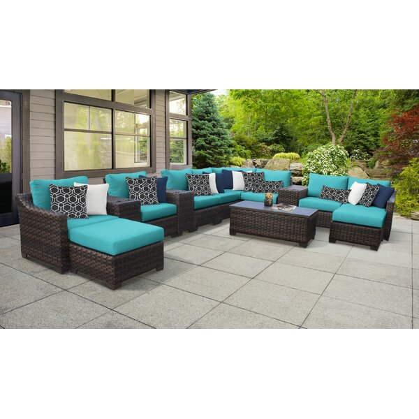 kathy ireland Homes & River Brook Coastal Sectional Seating Group with Cushions by TK Classics