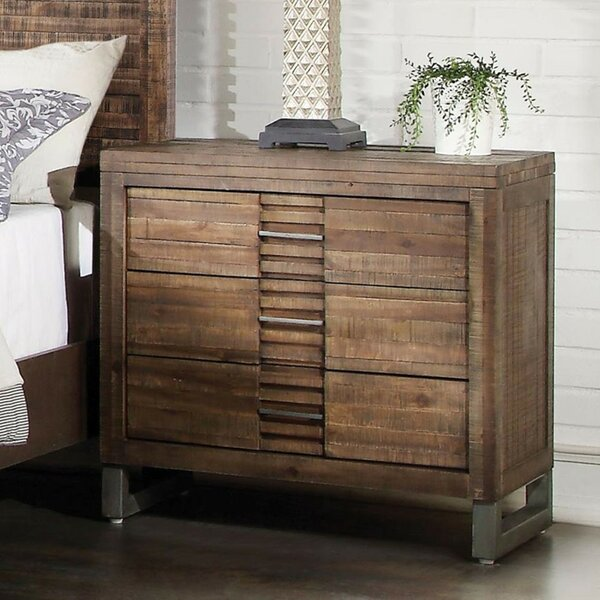 Womac 3 Drawer Nightstand by Union Rustic