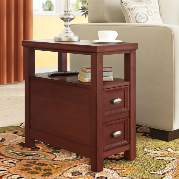 Herwy End Table With Storage by Charlton Home