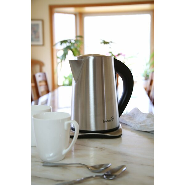 Ivation 1.8 Qt. Precision-Temp Cordless Stainless Steel Electric Tea Kettle by Ivation