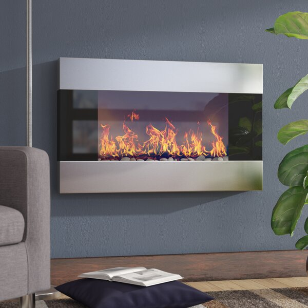 Clairevale Wall Mounted Electric Fireplace by Wade Logan
