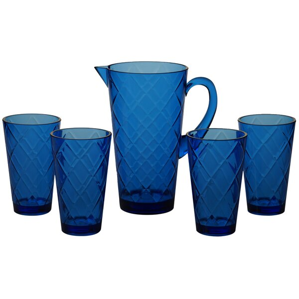 Diamond 5 Piece Plastic Assorted Glassware Set by Certified International