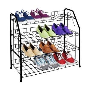 4tier 12 pair shoe rack
