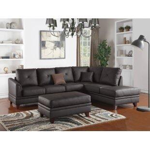 Torbert 3 Piece Leather Living Room Set