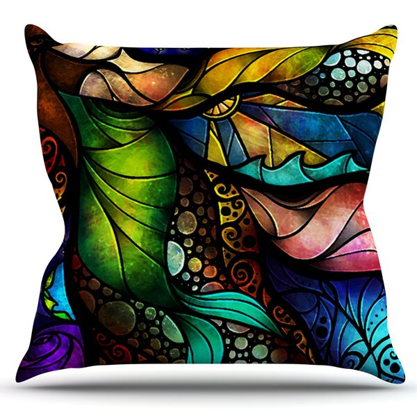 Sleep and Awake by Mandie Manzano Outdoor Throw Pillow by East Urban Home